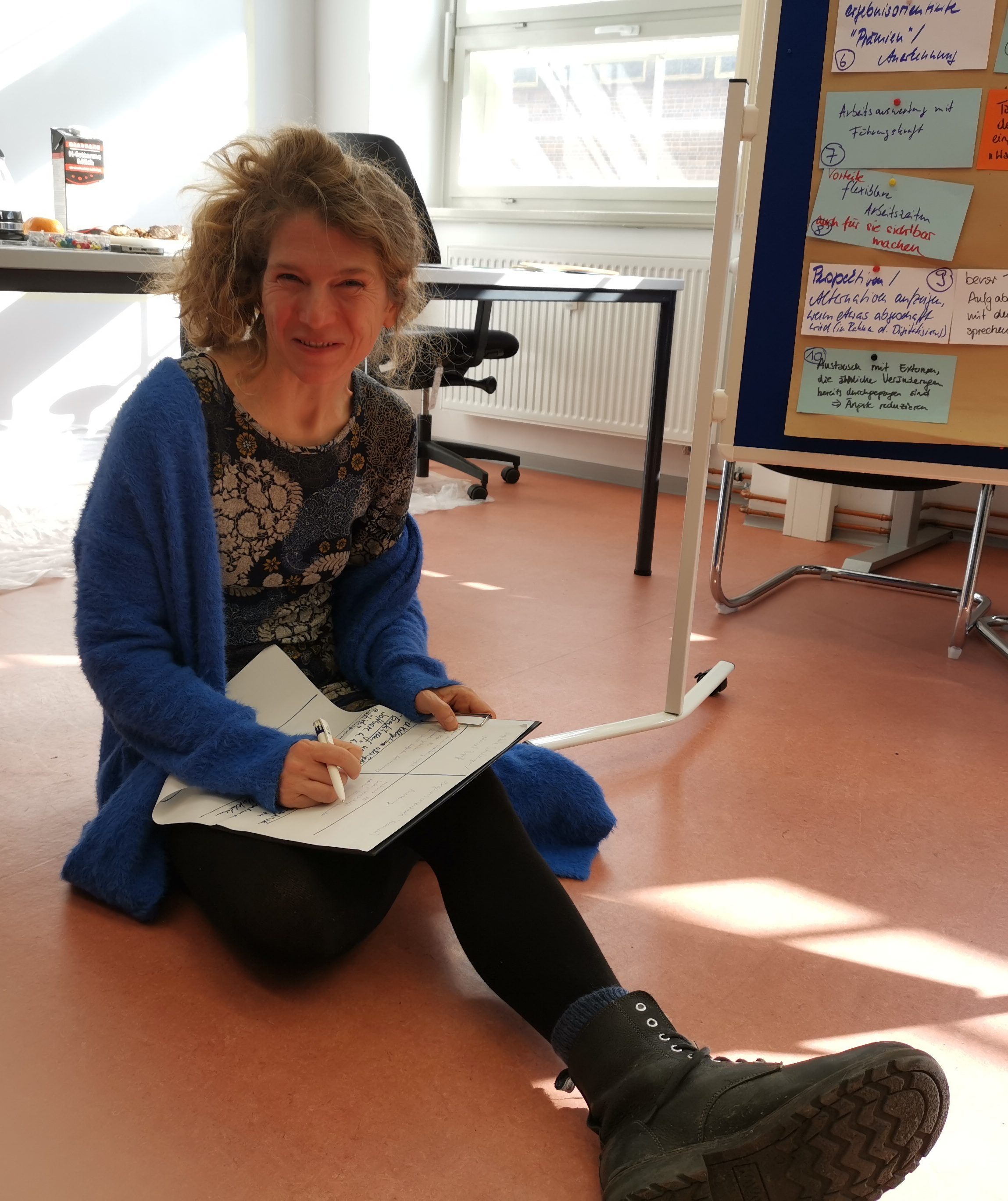 Design Thinking Moderatorin Katrin Schubert