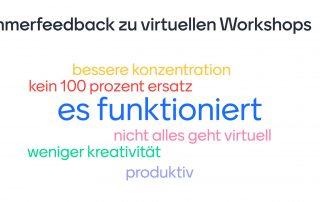 Feedback zu virtuellen Workshops